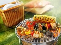 Sommer Grill Mit Hanf