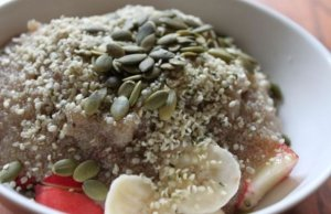 sweet porridge with hemp seeds - for children and adults