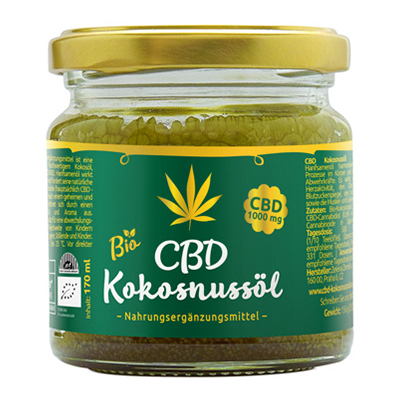 CBD Kokosnussöl 1000mg CBD, 170 ml
